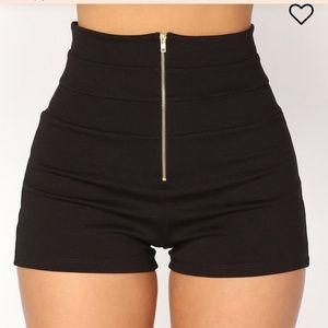 SOLD! Fashion Nova Black Shorts